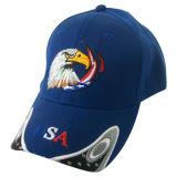 Gorra de béisbol caliente de encargo de la venta con el bordado (076P035)