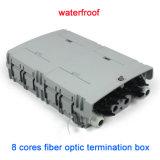Plastic 8 Port Telecom Waterproof Fiber Optic Termination Box