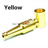 De Pijp van de Filter van het metaal voor het Roken van de Tabak de Pijpen van het Metaal van het Aluminium met Vorm 83mm van de Fles van de Rode Wijn van het Bier de Mini Draagbare Pijpen van de Hand