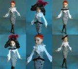Подгонянное вспомогательное оборудование куклы платья куклы девушки 11.5 дюймов пластичное