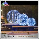屋外の装飾3D LEDのモチーフライト小さいクリスマスの球