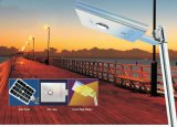 Luz solar recargable integrada del jardín del sensor de movimiento LED