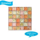Sublimation-Glaspuzzlespiel für Wärme-Presse-Leerzeichen-Geschenk-Großverkauf