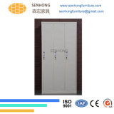 3 أبواب خزانة ثوب معدنة خزانة لأنّ تخزين إستعمال