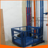 Hydraulic Guide Rail Goods Cargo Lift for Warehouse
