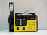 CE aprobado solar de la emergencia dínamo de la manivela AM / FM / NOAA Weather Radio, linterna, Reading for Mobile