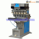 Six Color Shuttle Pad Printing Machine