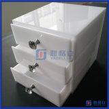 중국 공장 주문 백색 아크릴 메이크업 조직자 서랍