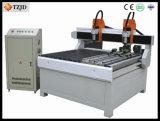 二重ヘッド回転式CNCのルーター機械