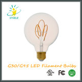Estilo retro del bulbo del filamento de G30/G95 5W Dimmable LED