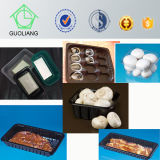 Großhandelsverpacken- der Lebensmittelschwarzes freies Wegwerfplastikpilz-Behälter-Tellersegment