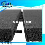 Fácil instalar el piso al aire libre Ruber Mat con Connect Pin