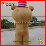 Traje adulto da mascote do esporte do urso da peluche dos desenhos animados