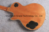 Guitarra elétrica da flama feita sob encomenda com o tigre natural da cor