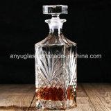 Ликвор способа квадратные/вино/бутылки духа стеклянные с стеклянной крышкой