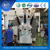 De capaciteit 3150kVA, 33kV in olie ondergedompeld in drie stadia ontlaadt de Transformator van de Macht
