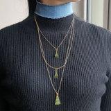 エッフェル塔の幾何学的なネックレスのペンダントの青ジーンのチョークバルブのネックレスセット