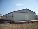 Verschüttete der Mosambik-Fertigstahl/fabrizierte Stahlkonstruktion vor
