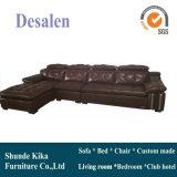 L мебель комнаты формы живущий, домашняя софа кожи мебели (B. 962)