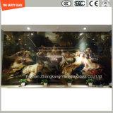 ホーム装飾のための4-19mmデジタルの絵画緩和されたガラス