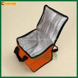 Tejido Bolsa Eco Friendly No hielo bolsos del almuerzo del enfriador (TP-CB409)