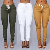 女性の衣服のためのカラー高いWaistedズボン