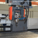 Cnc-mittlerer Aluminiumausschnitt, der Center-Pratic-CNC4000 maschinell bearbeitet