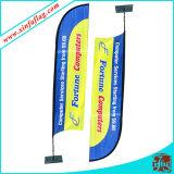 Feder-Markierungsfahne/kundenspezifische Entwurfs-Strand-Markierungsfahne