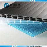 Hoja plástica de la PC del policarbonato de la depresión triple aprobada de la pared del SGS
