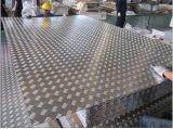 Placa de piso de alumínio para revestimento e placa de alumínio a xadrez (pequena de 5 bar, brilhante)