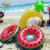 Finegoの膨脹可能なパイナップル、空気浮遊ピザドーナツのパイナップルプールの浮遊物
