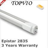 tubo del aluminio 1800lm T8 de 100lm/W 1200m m 18W LED