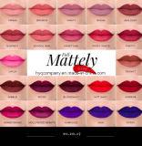 Queda nova Mattely de Morohe no lustro líquido do bordo do batom da cor do amor 22