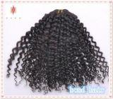 Tessuto brasiliano dei capelli del Virgin riccio crespo