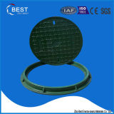 couverture de trou d'homme de fibre de verre de l'égout BMC de cercle de 700mm