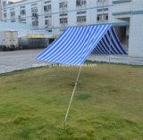 Im Freien galvanisiertes Stahlstreifen-Baumwollstrandsun-Zelt