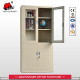 Стальная мебель вверх по стеклянной двери вниз Metal кухонный шкаф хранения двери