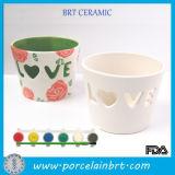 La cerámica de cerámica al por mayor suministra la sopa de mariscos sin pintar de las mercancías de la muñeca de la porcelana de Greenware