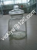 ガラスふたが付いている大きい食糧ガラス瓶