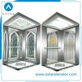 Cabina comercial del elevador del pasajero de la aguafuerte de la rayita del estilo 1000kg (OS41)