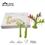 Fruit Forks/Pickers avec Tree Holder et Ceramic Knife/Peeler Set