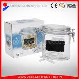 Опарника памятки банки меда этикеты опарник стеклянного прозрачный стеклянный с крышкой