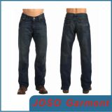 Pantalons en jean à jambe droite bleu foncé (JC3031)