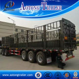 3개의 차축 Livestock Transport 상점 House Semi Trailer, Sale를 위한 50tons Stake Semi Trailer