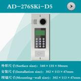 디지털 단추 (AD-276SKI-D5)를 가진 영상 문 전화 쉘