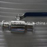 Robinet à tournant sphérique sanitaire de vapeur d'acier inoxydable avec l'actionneur pneumatique