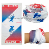 Полиэфир продукции OEM подгонял напечатанный логосом выдвиженческий шарф пробки шеи