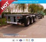 Chariot à conteneur à trois essieux ou à conteneur Semi-remorque à camion squelettique