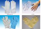 Высокомарочные перчатки перста чистой комнаты противостатические