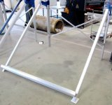 Calentador solar con soporte de aluminio